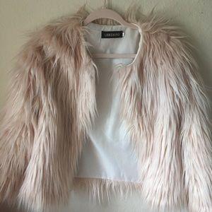 Jackets & Blazers - Pink Fuzzy Coat